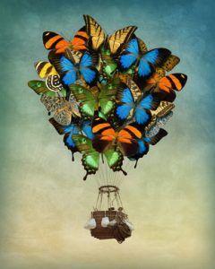 Butterfly hot air balloon